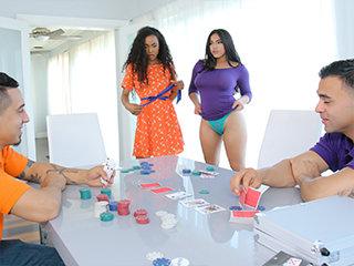 Strip Poker And Stroke Her